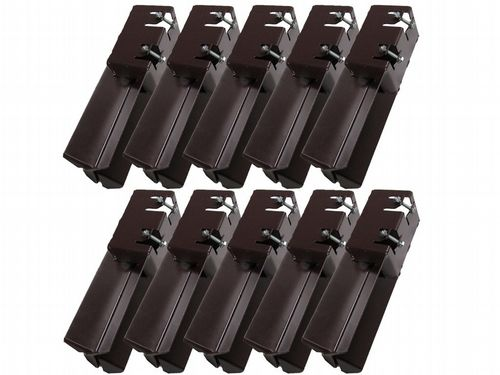 "x10 4"" Concrete In Bolt Grip Fence Supports - 100MM Post Timber Holder Like Metpost"